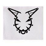 Wicked Kitty Throw Blanket