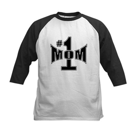 Number one mom Kids Baseball Jersey
