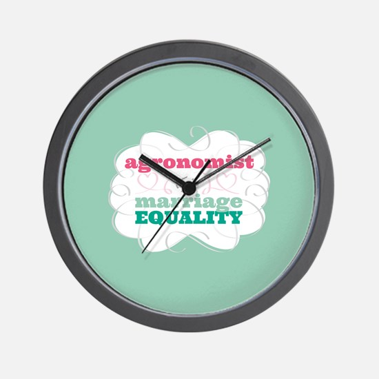 Agronomist for Equality Wall Clock