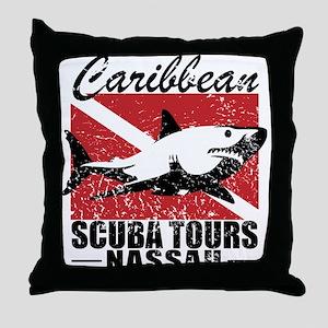 Caribbean Scuba Tours Throw Pillow