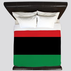 The Red, Black and Green Flag King Duvet
