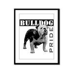 Bulldog Pride Framed Panel Print