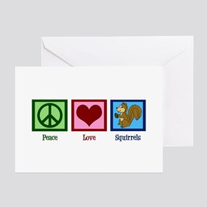 Peace Love Squirrels Greeting Cards (Pk of 20)