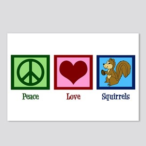 Peace Love Squirrels Postcards (Package of 8)