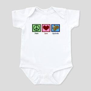 Peace Love Squirrels Infant Bodysuit