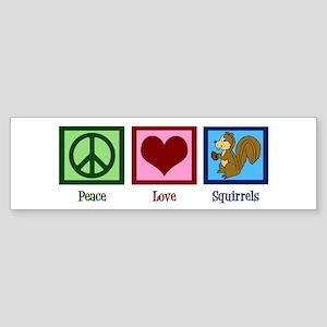 Peace Love Squirrels Sticker (Bumper)