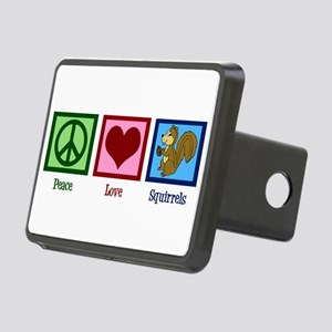 Peace Love Squirrels Rectangular Hitch Cover
