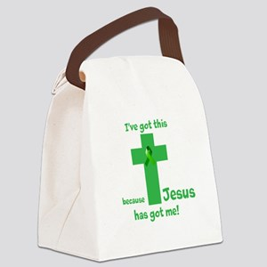 Green Jesus has got me Canvas Lunch Bag