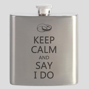 KEEP CALM and SAY I DO Flask
