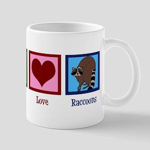 Peace Love Raccoons Mug