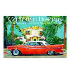 Red sled Postcards (Package of 8)