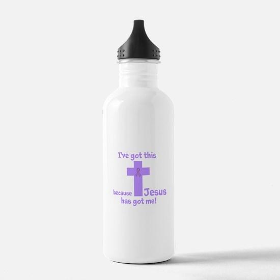 Lavender Jesus Has Got Me Water Bottle