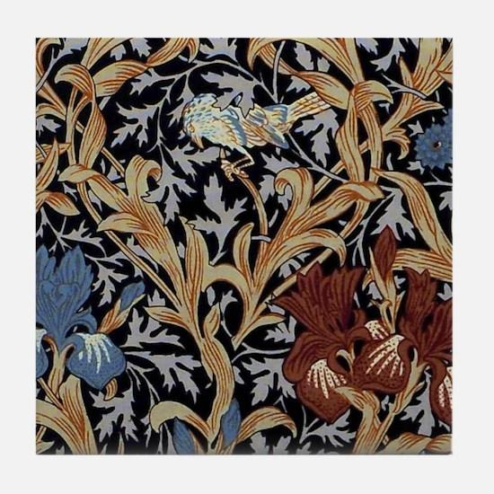 William Morris Iris Design Tile Coaster