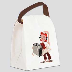 Toaster Girl Canvas Lunch Bag