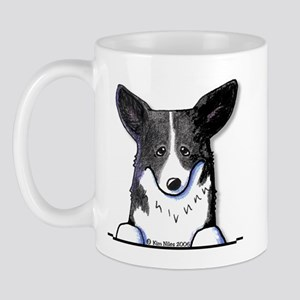 B/W Pocket Corgi Mug