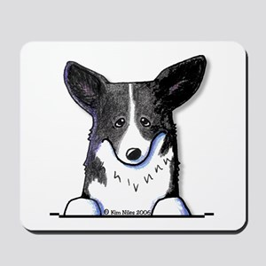 B/W Pocket Corgi Mousepad
