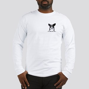 B/W Pocket Corgi Long Sleeve T-Shirt