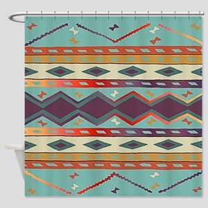 Southwest Indian Blanket Design Shower Curtain