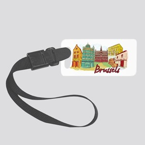 Brussels Belgium Small Luggage Tag