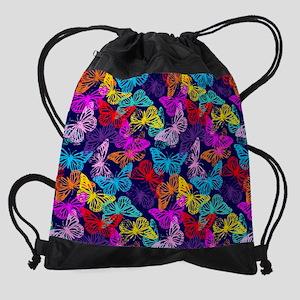 Butterflies Pattern Drawstring Bag