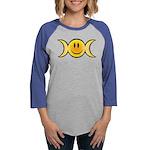 Wiccan Emoji Womens Baseball Tee