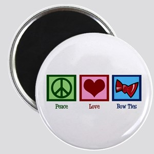 Peace Love Bow Ties Magnet
