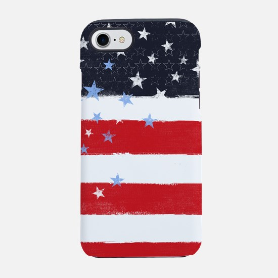 Patriotic Stars and Stripes iPhone 7 Tough Case