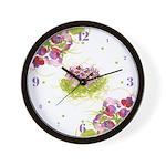 Atom Flowers #36 Wall Clock