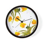 Atom Flowers #34 Wall Clock