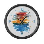 Atom Sea #21 Large Wall Clock