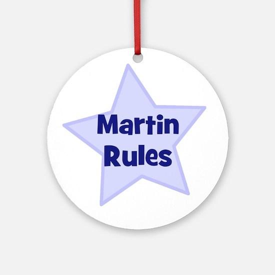 Martin Rules Ornament (Round)