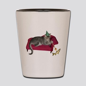 Cat on Couch Shot Glass