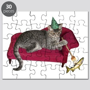 Cat on Couch Puzzle