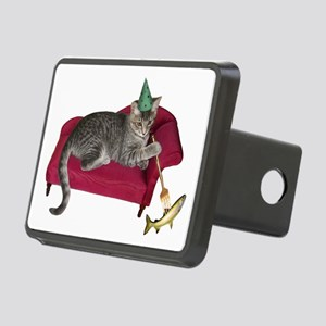 Cat on Couch Rectangular Hitch Cover