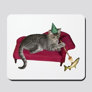 Cat on Couch Mousepad