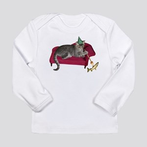 Cat on Couch Long Sleeve Infant T-Shirt