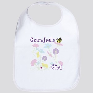 Flower Bees and Lady Bug Bib