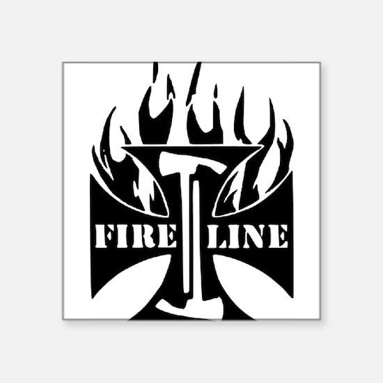 Fire Line Pulaski Iron Cross Sticker