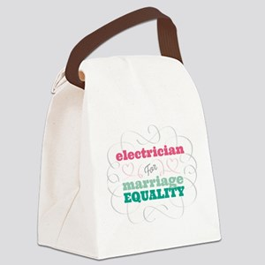 Electrician for Equality Canvas Lunch Bag