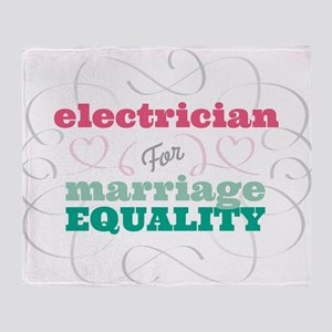 Electrician for Equality Throw Blanket