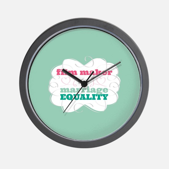 Film Maker for Equality Wall Clock