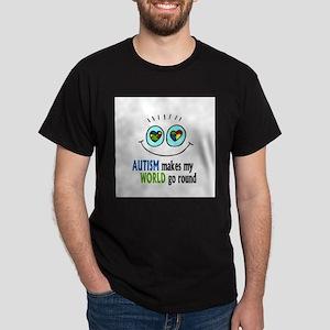 Autism makes my World go round Dark T-Shirt