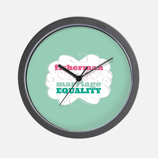 Fisherman for Equality Wall Clock