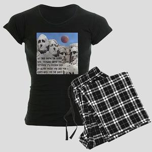 Mt. Rushmore The Quest Women's Dark Pajamas