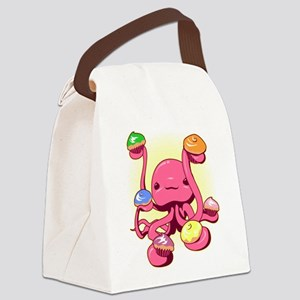 Cupcake Octopus Canvas Lunch Bag