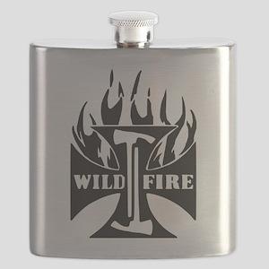 Wild Fire IRON CROSS Pulaski Flask