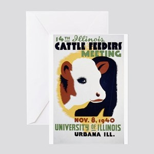 Illinois Cattle Feeders Meeting Greeting Cards