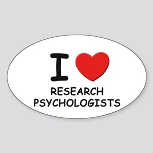 I love research scientists Oval Sticker