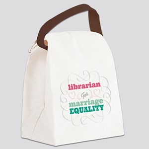 Librarian for Equality Canvas Lunch Bag