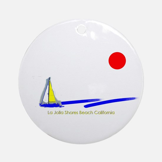 La Jolla Shores Ornament (Round)